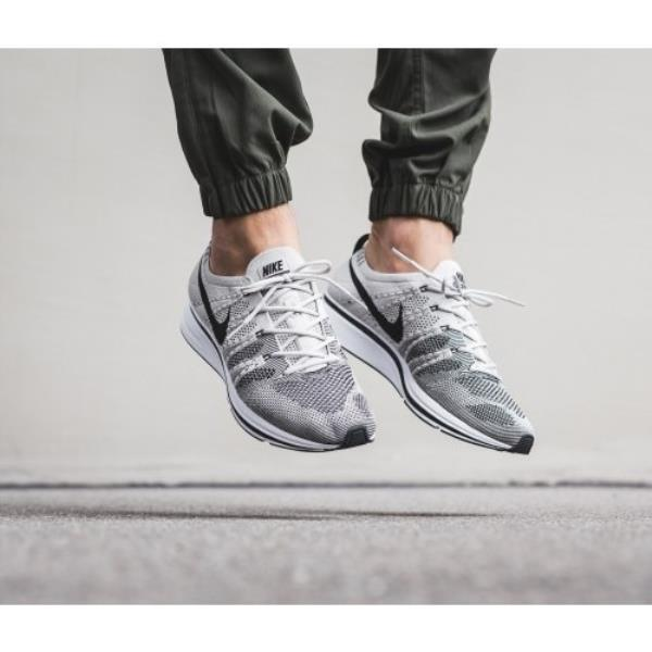 b99329f0d02c88 Details about Nike FLYKNIT TRAINER Pale Grey Black-White Size 5 6 7 8 9 10  11 12 Mens Shoes AH