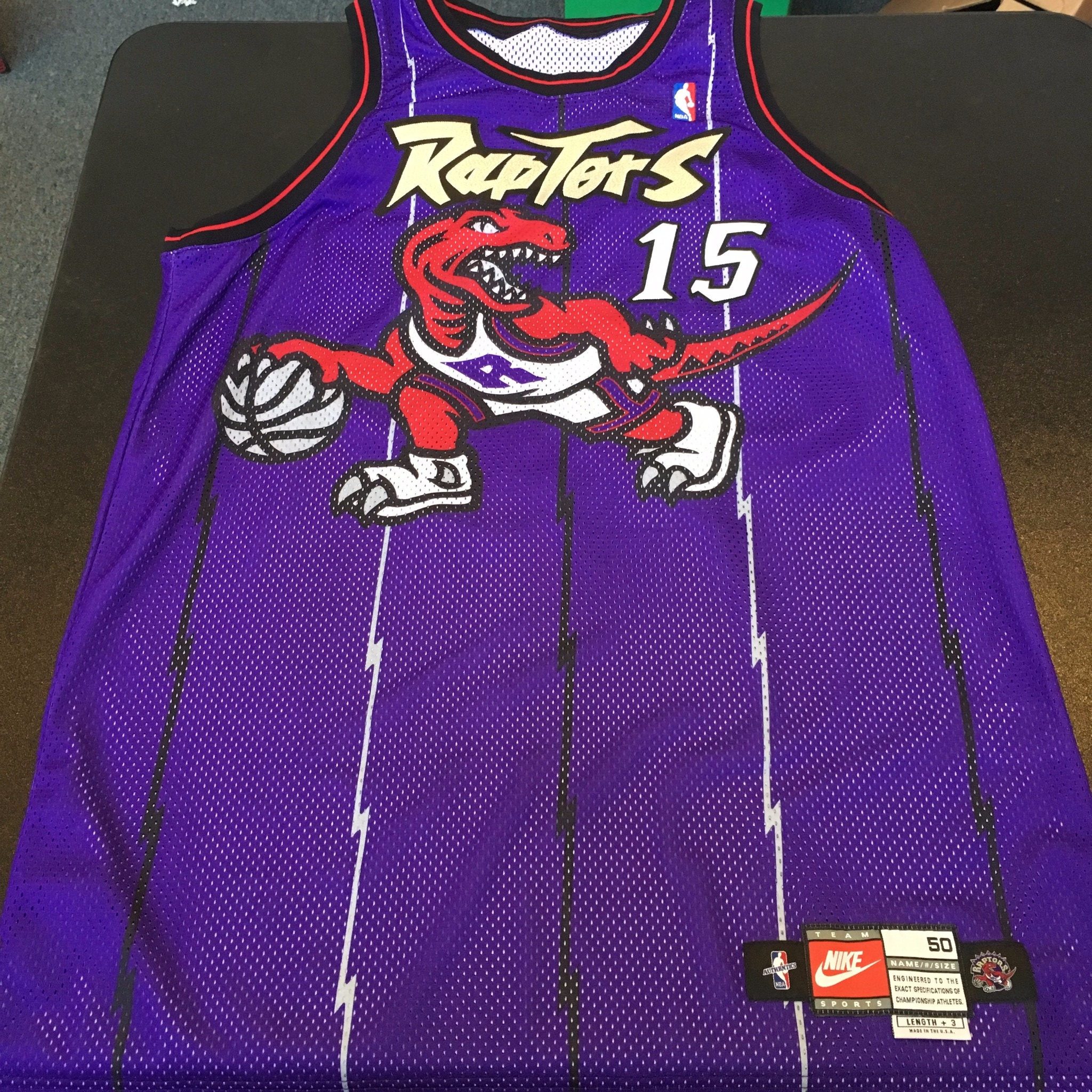 hot sale online 3a679 03dae Details about 1998-99 Vince Carter Rookie Game Used Toronto Raptors Jersey  With COA