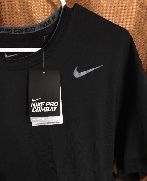 ae62bc4a8 Nike Dri-Fit Pro Combat Hyperstrong Padded Football Shirt - Black ...