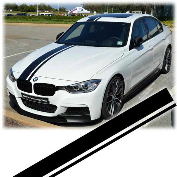 Details About Jdm Sporty Stripe Vinyl Decal Sticker For Bmw 3 Series F30 F31 Hood Roof Trunk