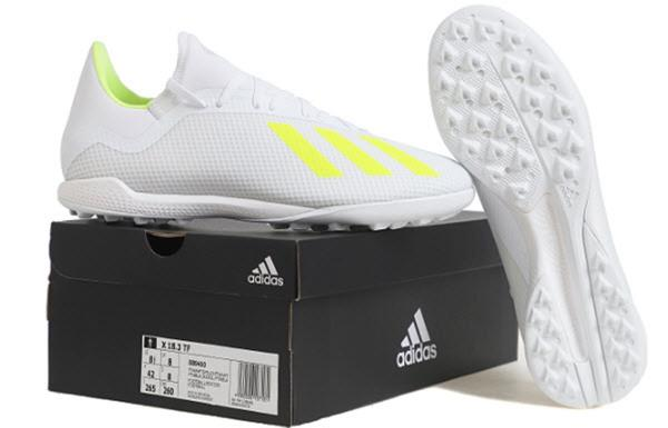 5092910e8 Adidas Men X 18.3 TF Cleats Futsal White Soccer Shoes Boots Turf ...