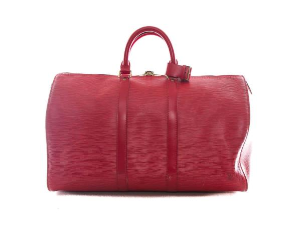 0e4fc04915f Authentic Louis Vuitton Red Epi Leather Keepall 45