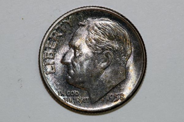 1961 10c Silver Proof Roosevelt Dime Roll 50 Coins In Mint Cellophane
