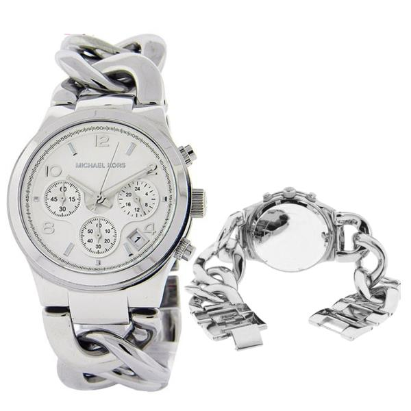 4268cc9f75fe Michael Kors MK3149 is equipped with a 25mm wide solid stainless steel  twist chain bracelet with a jewelry clasp.