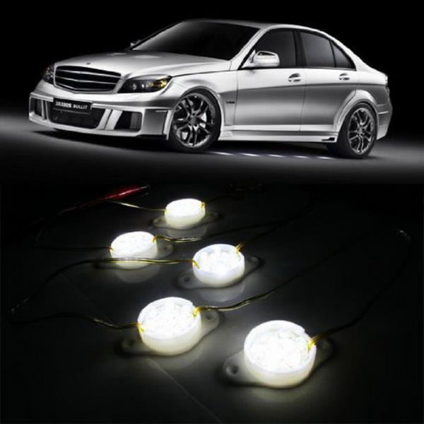 Led Lights For Cars >> Details About White 95 Brabus Style 45 Led Lights Under Car Puddle Lighting Ground Effect Kit