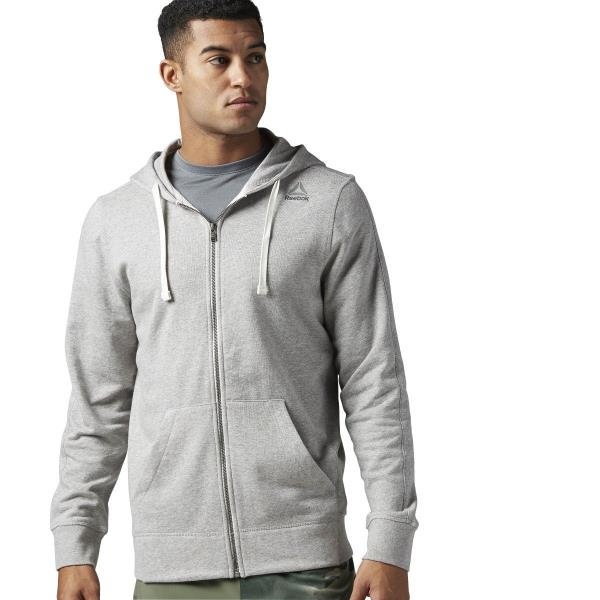 f04da19cf3 Details about [BS2652] New Men's REEBOK US Elements French Terry Full Zip  Hoodie - Grey