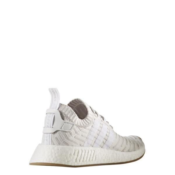 BY9954  Womens Adidas Originals NMD R2 PK Primeknit Sneaker - White Pink.  Style  BY9954 ea24b6fca