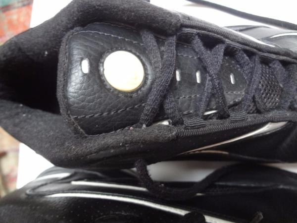 timeless design 6a6aa dbd43 ... sweden nike black leather basketball shoes w white swoosh trim. e95c6  780c9