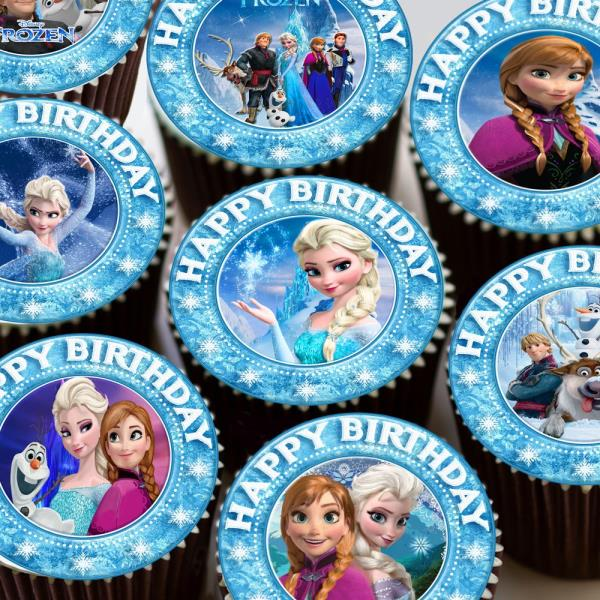 Frozen Pretty Anna And Elsa Precut Edible Birthday Cake Topper