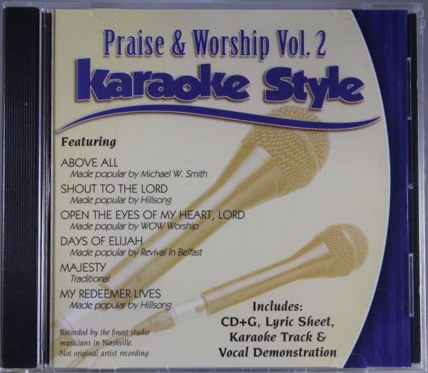 Details about Praise & Worship Volume 2 Christian Karaoke Style NEW CD+G  Daywind 6 Songs