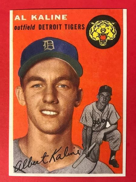 Details About Al Kaline Rookie 1954 Topps 201 Reprint Baseball Card Detroit Tigers