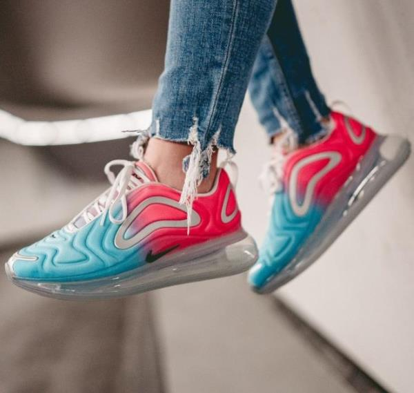 Nike Air Max blue and pink size 7