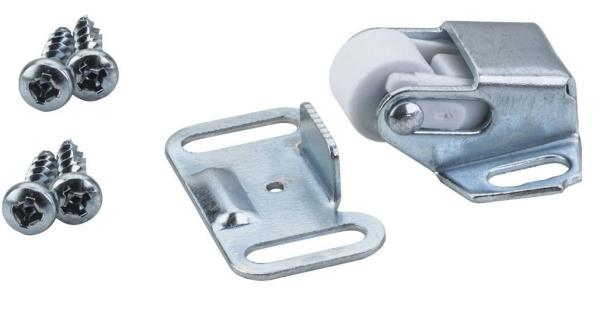 Cabinet Door Latch Heavy Duty Roller Catch With Strike Plate And