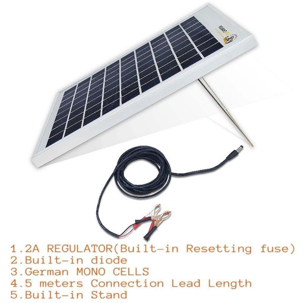 Waterproof 10w 12v Portable Solar Trickle Battery Charger 2a Panels To Batteries Via Regulator Stc 1000w M2 Am 15