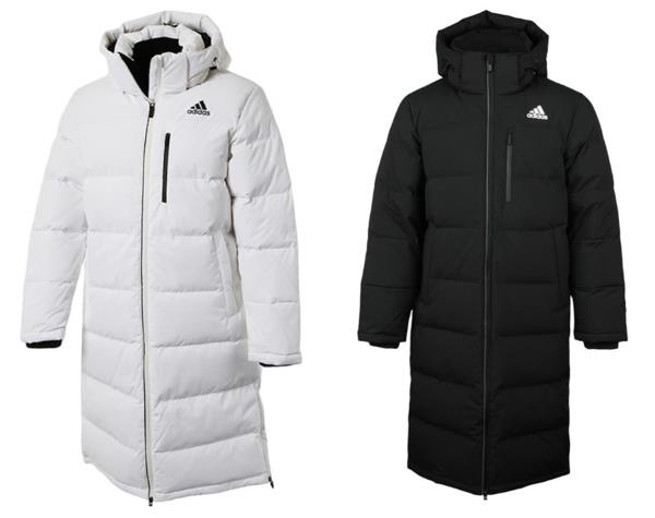 7cad89762 Details about Adidas Men Long Bench Down Coat Padded Jacket Black White  Warm Parka Coat CK0978