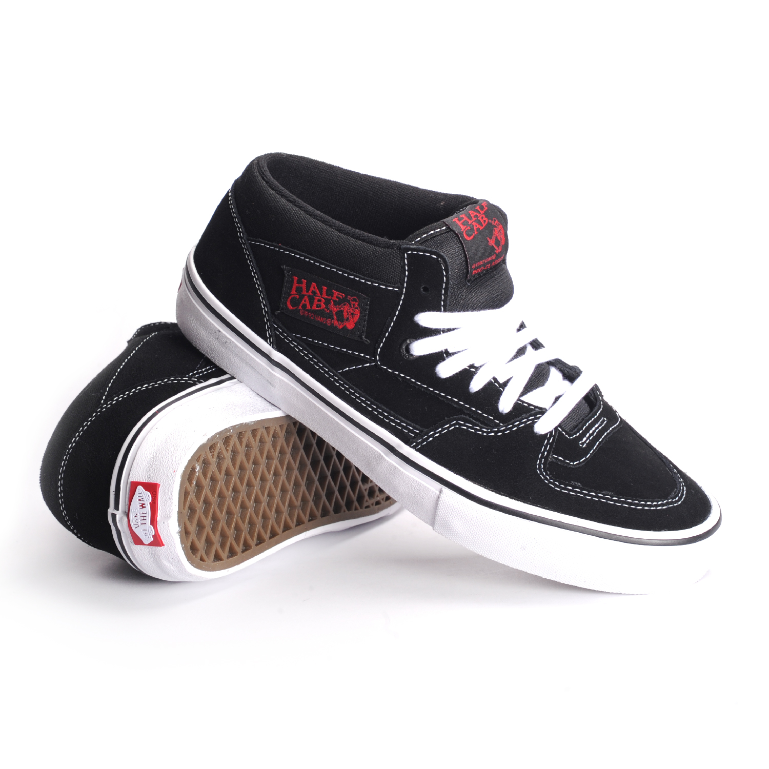 Vans Shoes Half Cab Black White Red USA SIZE Steve Caballero Skateboard Sneakers