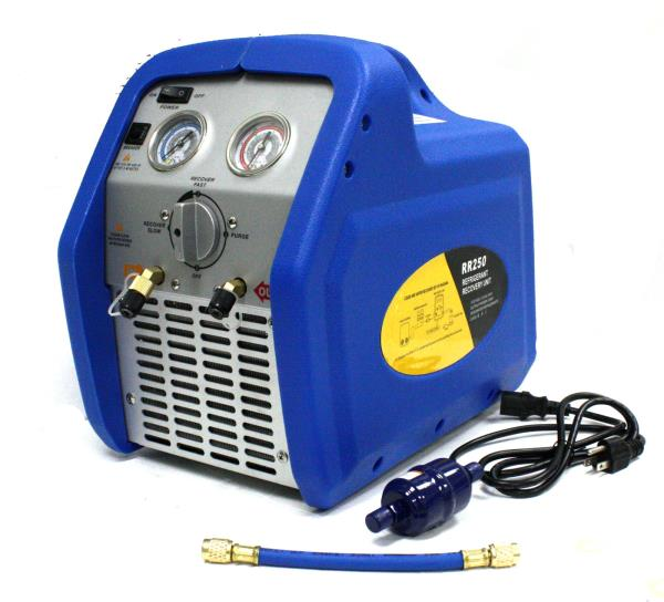 air conditioning recovery machine. rr250 portable ac refrigerant recovery machine 3/4hp 4 r410a r134a r12 r22 hvac air conditioning
