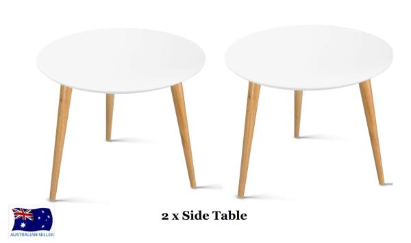 Bedside Round Table.Details About 2x Modern Side Table Coffee Table Bedside Round Lamp Office Home Furniture Wood