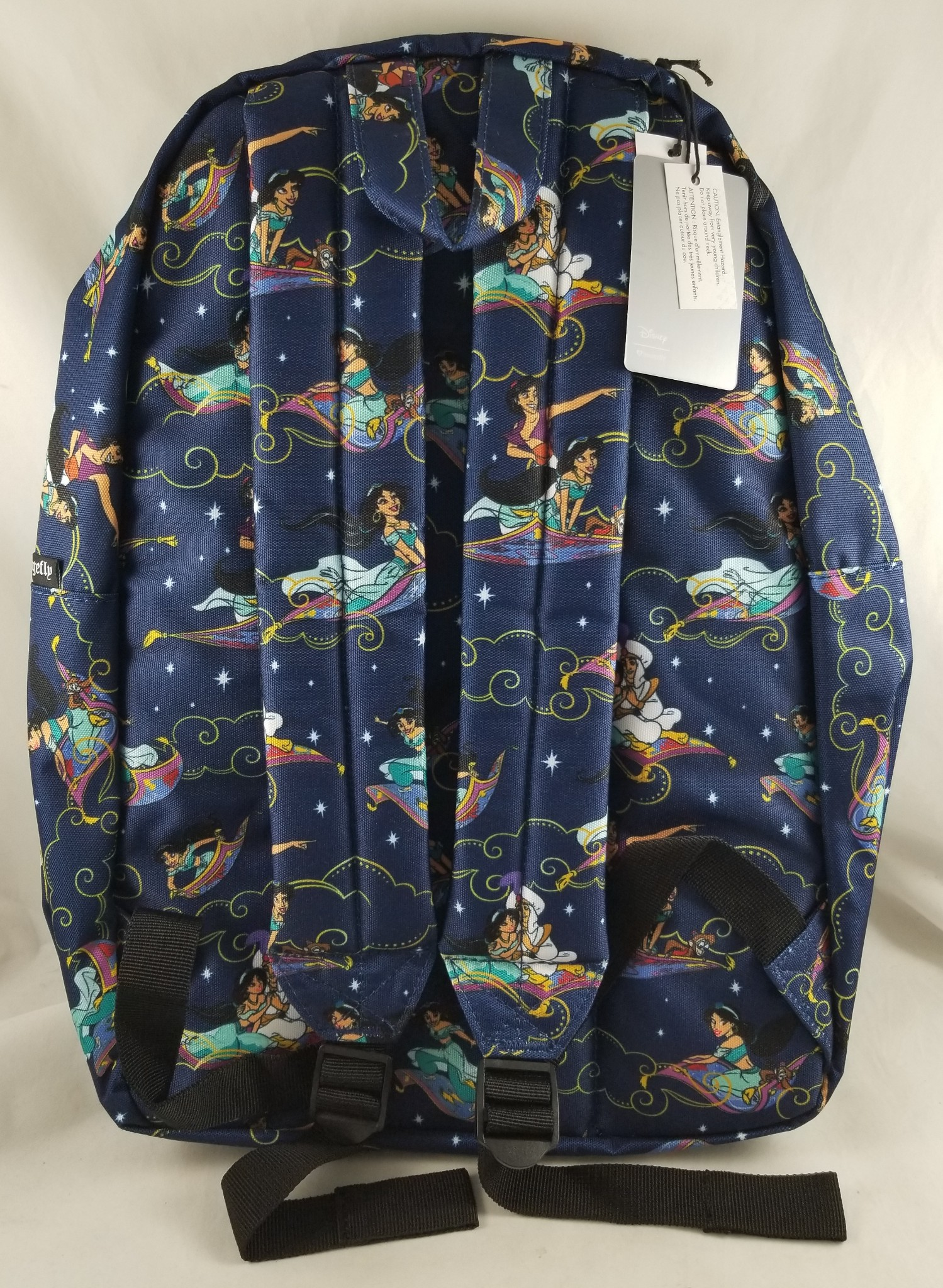 798b149808d Loungefly Disney Parks Aladdin Carpet Ride Print Backpack Book   Cosmetic  Bag. click thumbnails above to enlarge