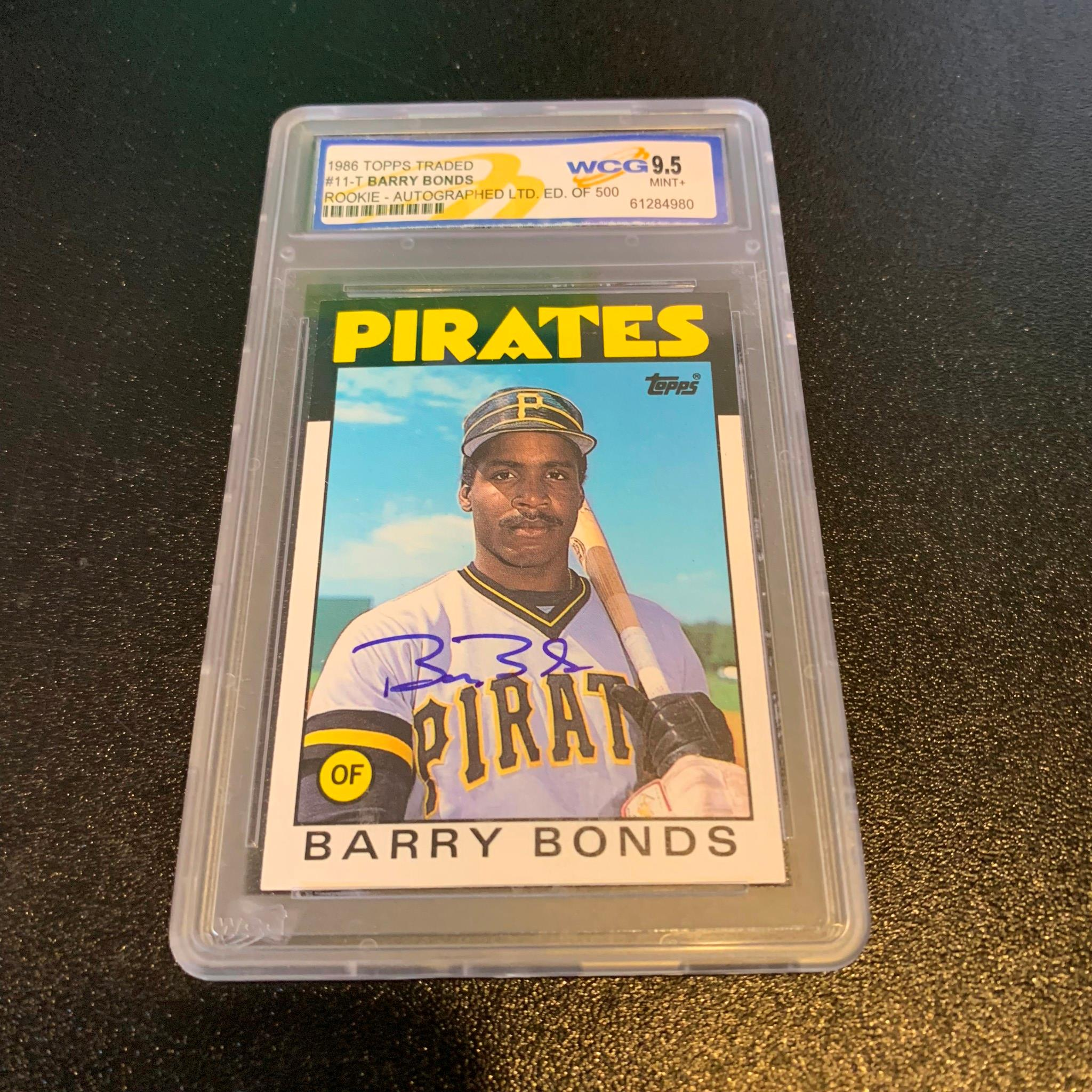 Details About 1986 Topps Traded Barry Bonds Rc Rookie Signed Autographed Baseball Card Coa