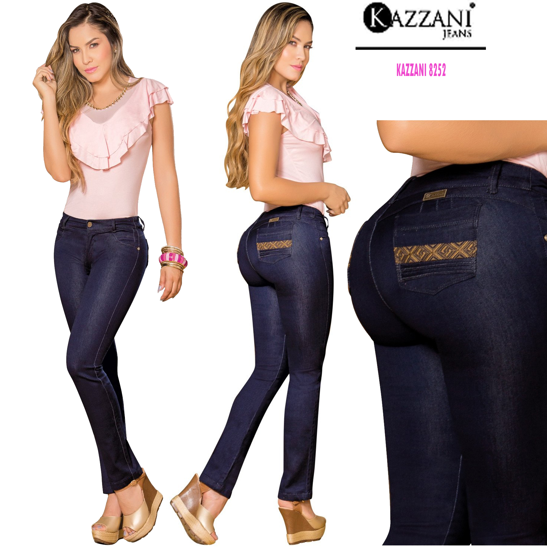 Colombian PLUS Blue Jeans Skinny Butt Lifter Levanta Cola Slimming Curvy Stretch
