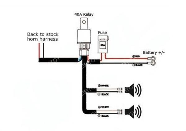 car horn relay wiring schematic car alarm relay wiring diagram 12 volt air horn #5