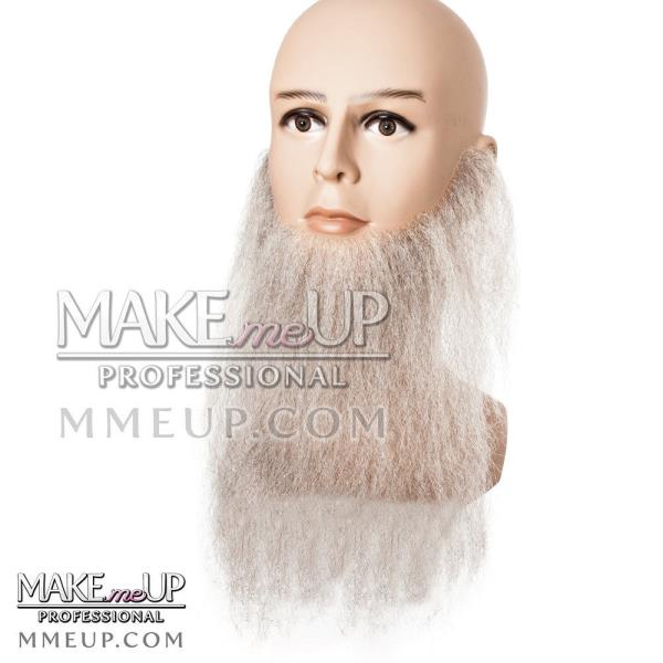 GREY FULL LONG Beard Mustache Hair Makeup stage Theatrical costume Facial