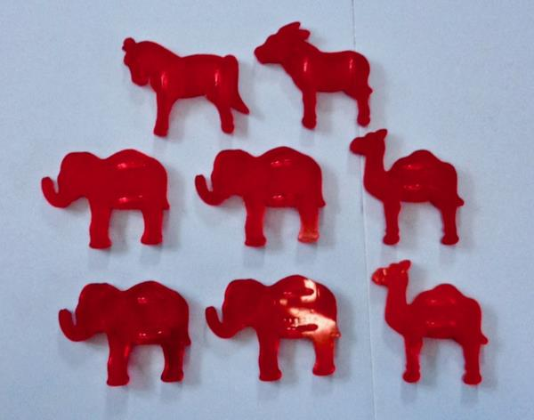 wholesale outlet many fashionable cozy fresh Details about 8 VINTAGE HRM RED PLASTIC CIRCUS ANIMAL COOKIE CUTTERS  ELEPHANTS CAMELS HORSE