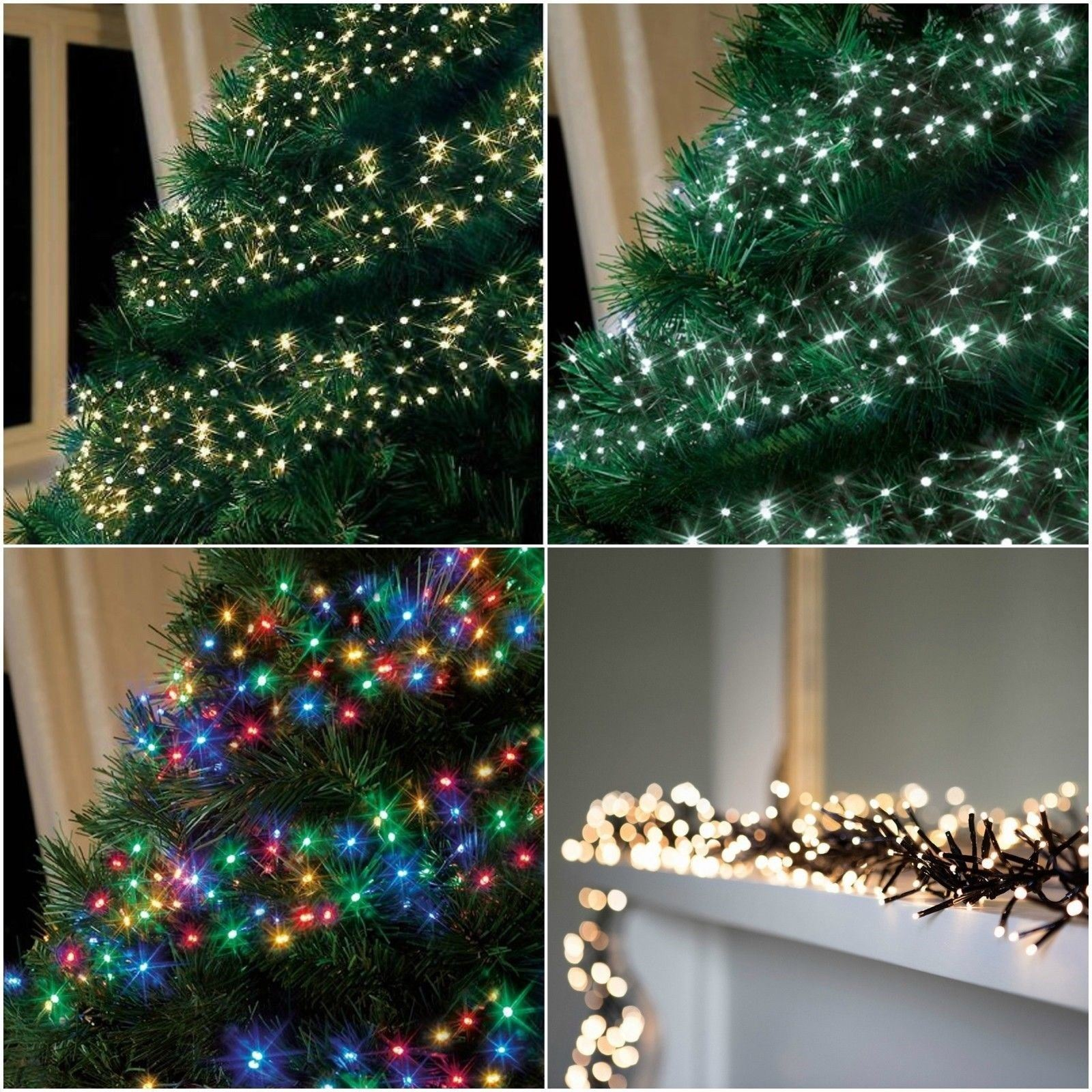 280 led christmas cluster lights string indoor outdoor multi colour decoration