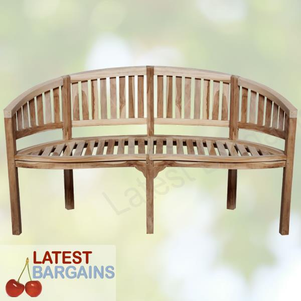 Magnificent Details About Outdoor Wooden Garden Bench Park Patio Banana Seat Chair Timber Furniture Gamerscity Chair Design For Home Gamerscityorg