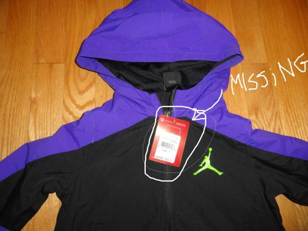 7788abaccf5db3 Air Jordan little boy s full zip hoodie jacket. Nylon shell black mesh  polyester lining. Size  6. New without tags.