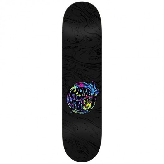 Real Skateboard Deck Walker Slickadelic 8.25 FREE POST FREE GRIP