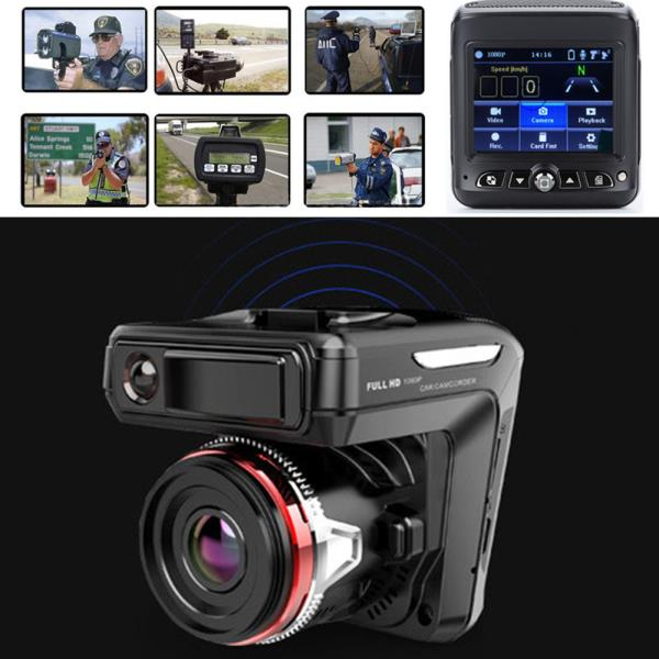 2in1 HD 1080P Car DVR Detector Camera Video Recorder Dash Cam Radar Laser Speed