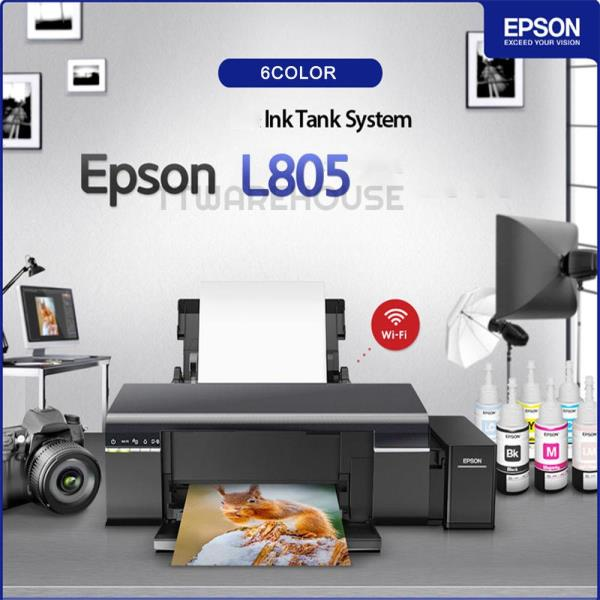 Details about NEW EPSON L805 6-Color Wireless Inkjet Photo Printer Ink Tank  System ITS + T673