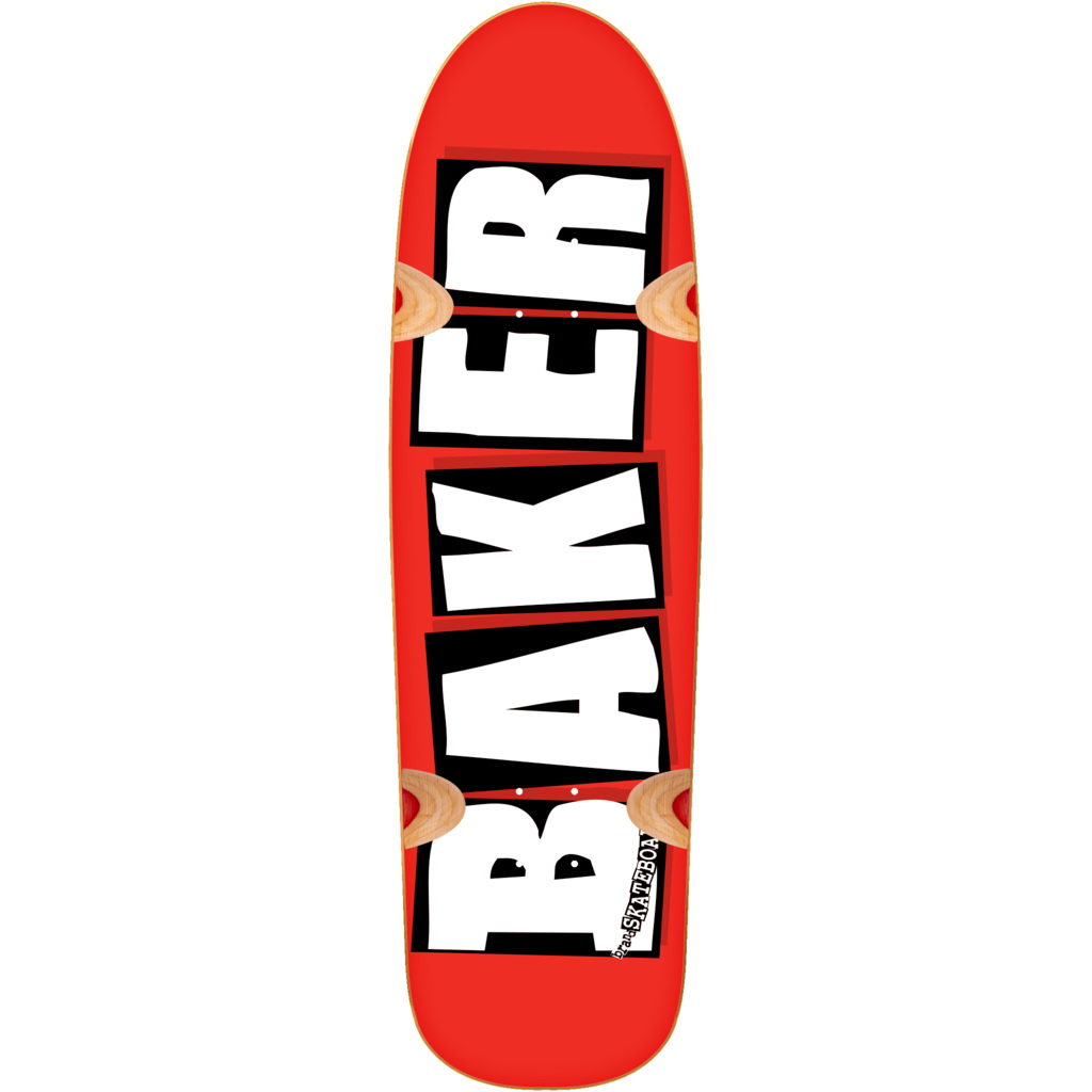 Baker Skateboards Deck Brand Logo Cruiser Red 8.5 FREE GRIP and Post New