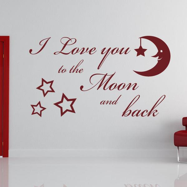 Love You To The Moon And Back Wall Art i love you to the moon and back wall art sticker decal kids