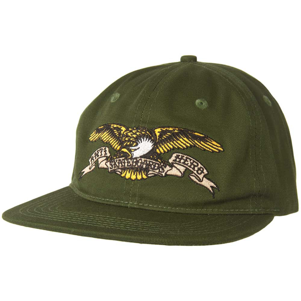 Anti Hero Skateboard Cap Eagle Emb Unstructured Green Snapback Hat FREE POST