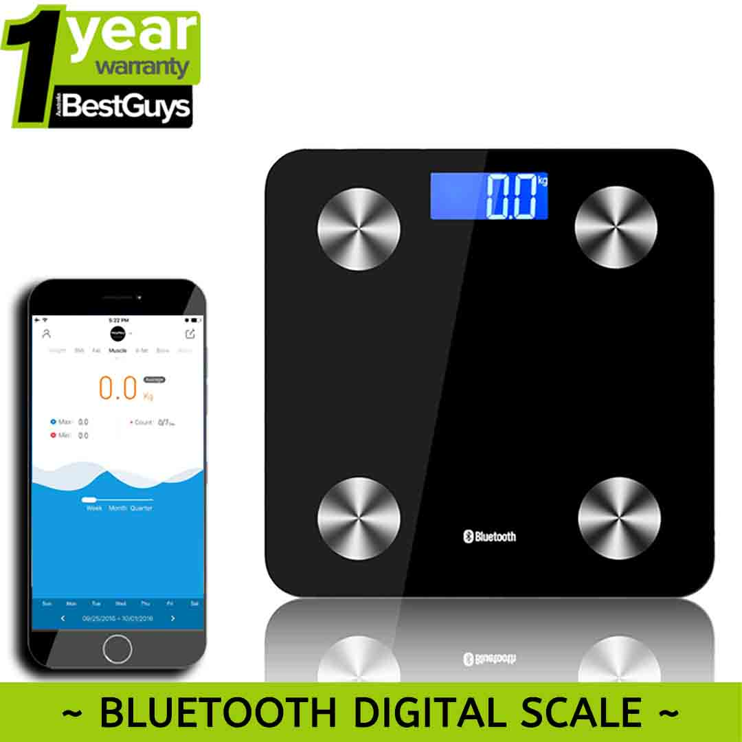 bluetooth body fat scale smart health monitor app weight fat bmi bmr