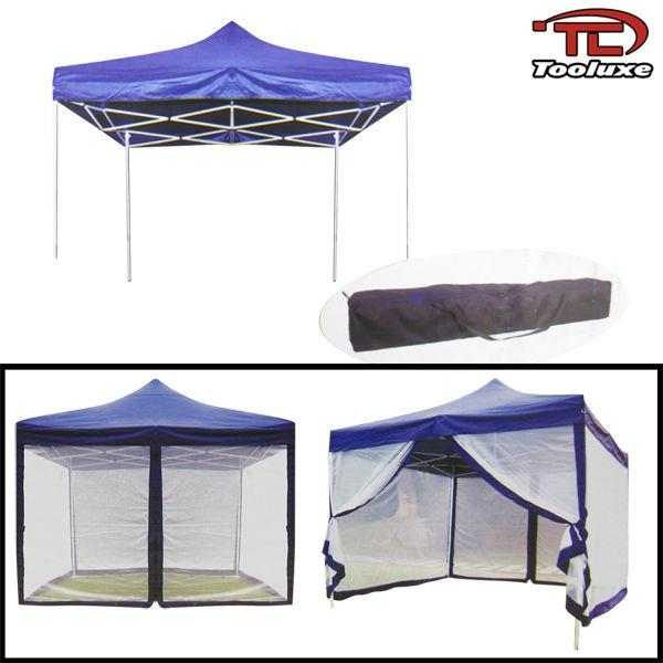 ... Blue - This is an Ultra Portable Tent Canopy perfect for picnics yard sales concerts tailgating farmers market swap meets and more!  sc 1 st  eBay & 10u0027 x 10u0027 Canopy W/ Mosquito Net Easy Foldable Canopies u0026 Tents ...