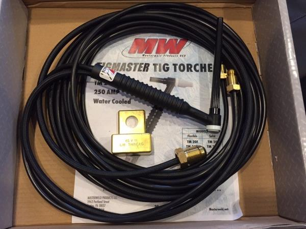 """Masterweld WP18-12 /""""TIGMASTER/"""" Torch Water-Cooled 350AMP USA"""