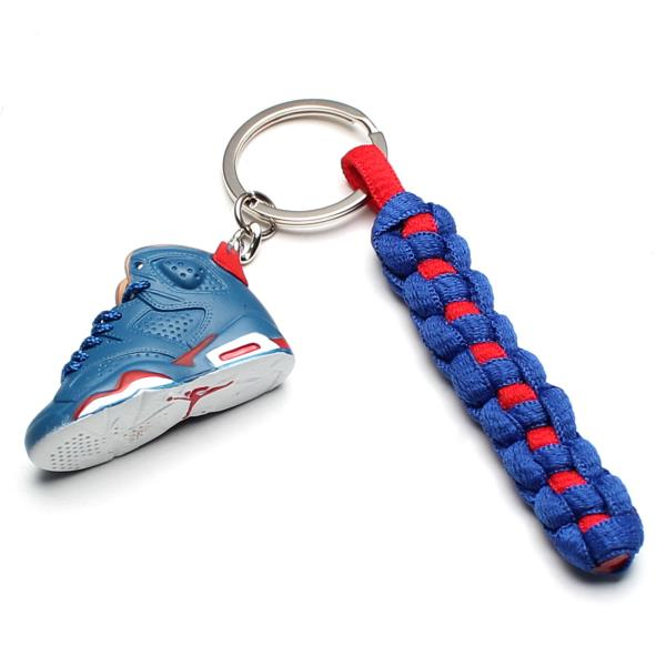 Details about 3D Mini Sneaker Shoes Retro Charitable Keychain With Strings  for Air Jordan 6 aa628d2be