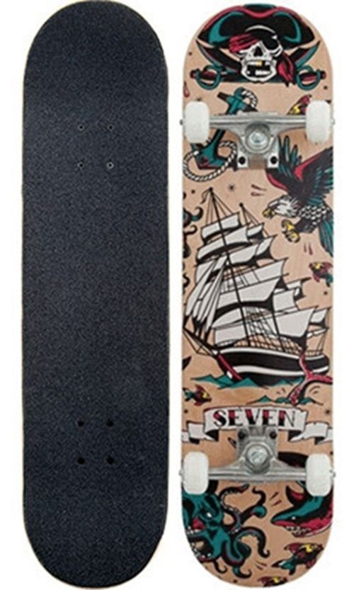 Seven Complete Skateboard Tattoo Flash Natural 7.8 FREE POST New By Z-Flex Zflex