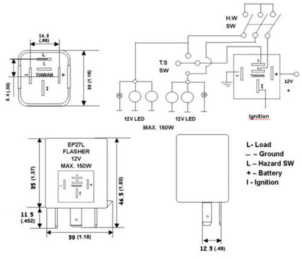 Ep27 Flasher Relay Wiring Diagram Motorcycle Unique Led Elaboration Electrical System Rh