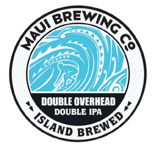 Details about Maui Brewing Co  Circular Tin Beer Sign - Double Overhead  Double IPA Light Blue