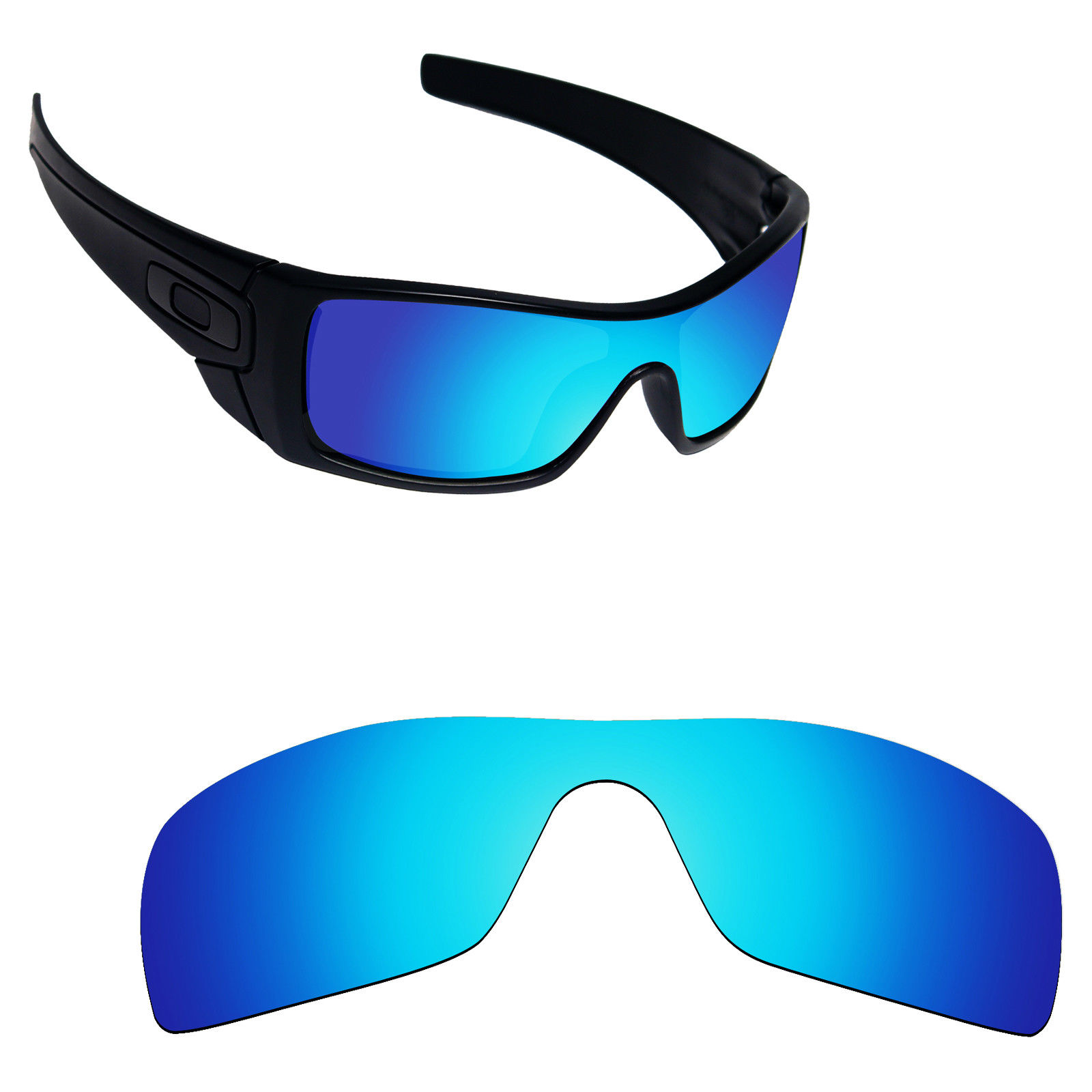 083aca82be Polarized Mirrored Replacement Lenses For Oakley Batwolf Sunglasses ...