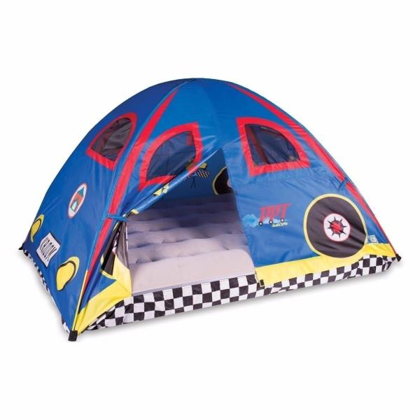 Boys Bed Tent Twin Full Blue Red Race Car Racing Checker Dome Canopy Play House  sc 1 st  eBay & Boys Bed Tent Twin Full Blue Red Race Car Racing Checker Dome Canopy ...