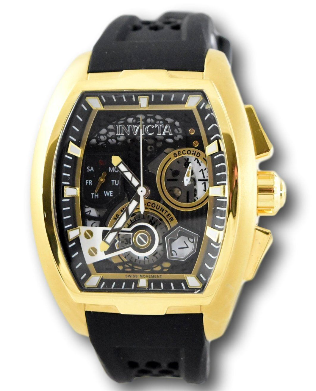 658a817b7 Details about Invicta S1 Rally Diablo Men's Gold Swiss Chronograph Watch  26398 42mm