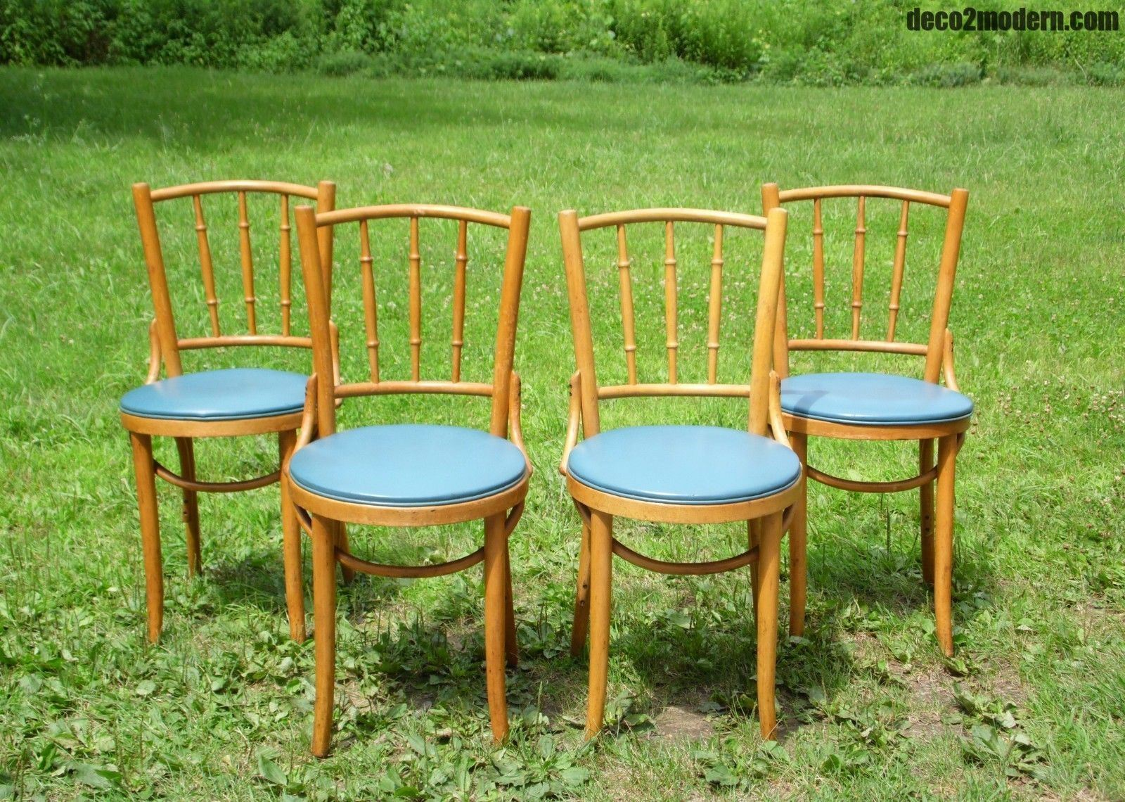 Vintage thonet style cafe chairs with stenciled seats - Please Include Your Zip Code For Quotes