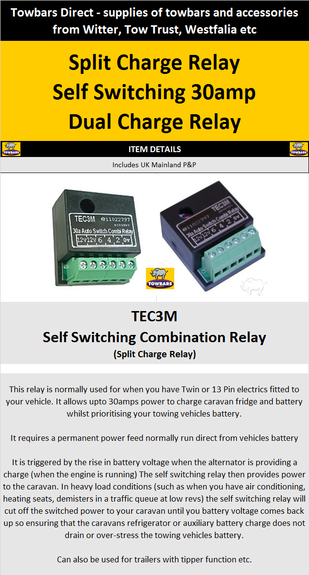 Self switching smart relay for 12s 13 pin towbar wiring charging search shop asfbconference2016 Image collections