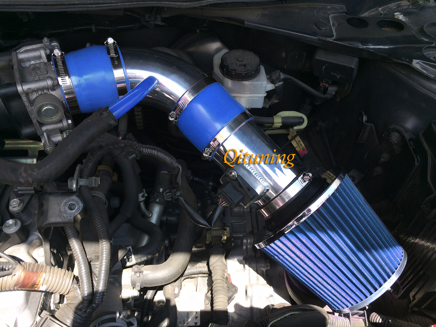 Blue 2PC Air Intake System Kit Filter For 2007-2012 Nissan Altima 2.5L L4